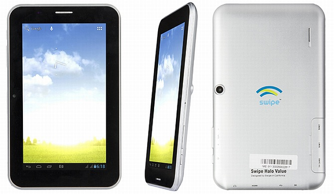 Swipe Halo Value dual-SIM 7-inch Jelly Bean tablet launched at Rs. 6,990