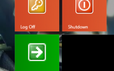 How to add Shutdown tile to start menu in Windows