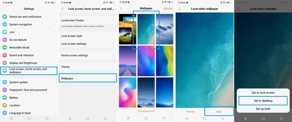 How To Change Wallpaper On Vivo X21 Vivo V9 Vivo V9 Youth Vivo